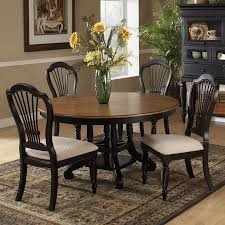 Hillsdale Dining Table Shop Hillsdale Furniture Wilshire Rubbed Black Dining Set At Lowescom