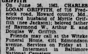 Obituary for CHARLES LOGAN GRIFFITH - Newspapers.com