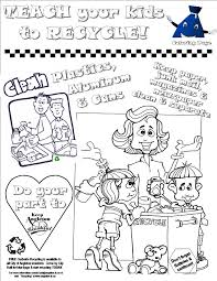 Coloring Pages Recyclingctivity Free Earth Dayctivities For