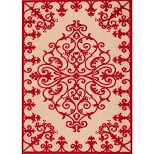 compare aloha red 5 ft x 7 ft indoor outdoor area rug