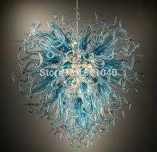 hot hand blown glass chandelier led light source lighting uk