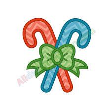 Candy Cane Applique Design Candy Canes Applique