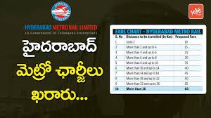 Metro Price Chart In Hyderabad
