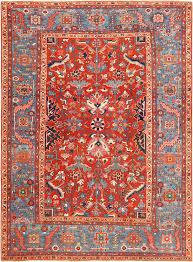 red antique heriz persian rug 49395 nazmiyal