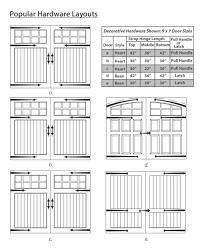 wooden garage doors por hardware layouts por decorative hardware layouts