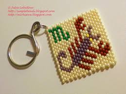 Beaded Keychain Patterns Awesome Beading For The Very Beginners Keychain With Scorpio Zodiac Sign
