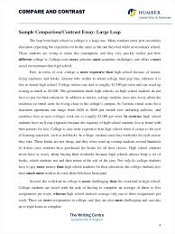 Compare And Contrast Essay Outlines Example Comparison And Contrast Essay Printable Comparative Essay