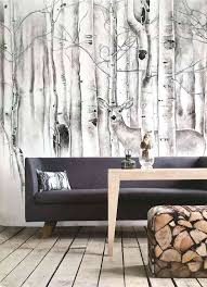 wallpaper for a room delicate with trees and cute deer nearby makes this  welcoming i also . wallpaper for a room ...
