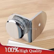 <b>High Quality 4PCS</b> Brass Shower Glass Clamps Clips 90 Degree ...