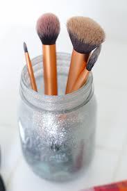 mason jar makeup brush holder. diy mason jar makeup brush holder