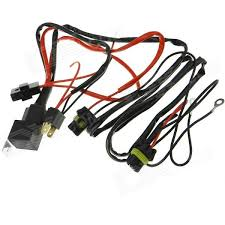 waterproof h4 xenon hid relay wiring harness black red 145cm waterproof h4 xenon hid relay wiring harness black red 145cm