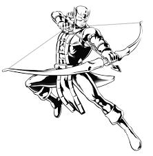 Disegno Di Hawkeye The Avengers Da Colorare Per Bambini Con Disegni