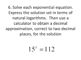 solve each exponential equation