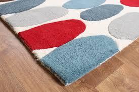 matrix sofia red teal thick wool rug max33