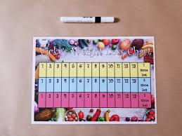 Weight Loss Chart A4 Homemade Laminated Dry Wipe Pen 3 Stone To Lose
