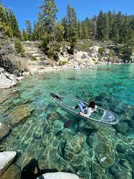 Lake tahoe is the second deepest lake in the u.s., with a maximum depth of 1,645 feet (501 m), trailing oregon's crater lake at 1,949 ft (594 m). Clearly Tahoe Offers A Unique Look At Lake Tahoe Sierrasun Com