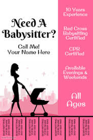 Pull Tab Flyer Maker Customize 200 Babysitting Flyer Templates Postermywall