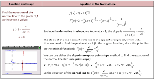 equation of the normal line