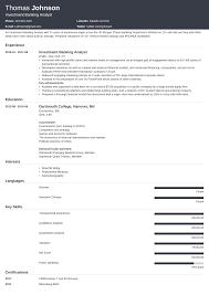sample resume for investment banking 30 sample investment banking resume abillionhands com