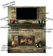 fireplace with tv above on fireplace mantel fireplace tv stand ideas