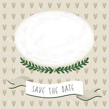 Blank Save The Date Cards Wedding Save The Date Card With Delicate Grunge Oval Blank Portrait