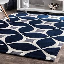 wrought studio roush handmade navy blue gray area rug reviews in plan 0