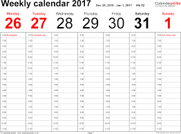 weekly schedule template with hours weekly calendar 2017 uk free printable templates for word