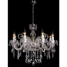 8 light decorative chandelier prague chrome and crystal chandelier