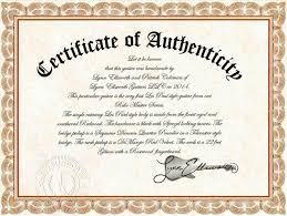 Certificate Of Authenticity Autograph Template Filename Emergency