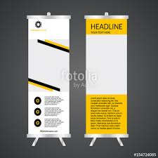 template for advertisement black and yellow roll up banner template vector illustration