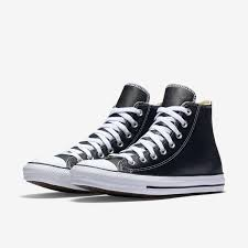mens white leather converse high tops