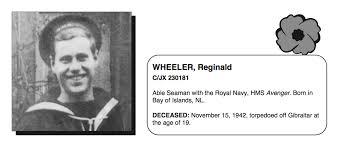 Reginald Wheeler - The Canadian Virtual War Memorial - Veterans Affairs  Canada