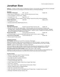 Resume Objective Examples Accounting Internship New Internship