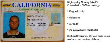Id Mcluvin's California Id Fake novelty
