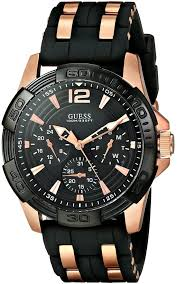 mura rakuten global market guess guess men x27 s u0366g3 guess guess men s u0366g3 sporty multi function watch on a comfortable black silicone strap