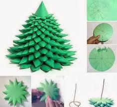 Paper Christmas Tree Ornaments Diy Paper Christmas Decorations Happy Holidays