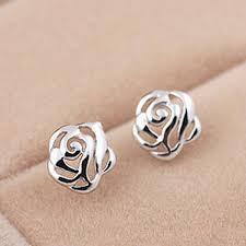 2019 925 Sterling Silver Stud Earrings <b>Brincos Para As Mulheres</b> S ...