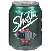 shasta soda pale dry ginger ale nutrition