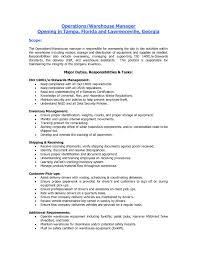 Sample Resume Warehouse Supervisor Job Objectives Inspirationa