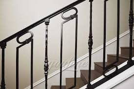 Handrail railing,single post handrail,sturdy outdoor handrails with base wrought iron stair handrail fits 1 or 2 steps grab rail for steps porch,gray. Outdoor Metal Wrought Iron Stair Railings You Fine Sculpture