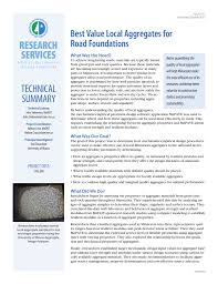 Road Foundation Design Research Services Best Value Local Aggregates For Road