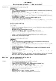 George Washington Resume Pension Administrator Resume Samples Velvet Jobs 22