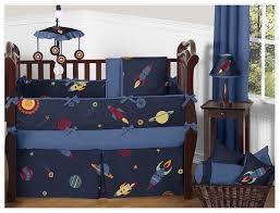 sweet jojo designs space galaxy 9 piece crib bedding set