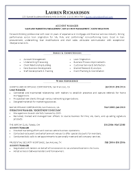 Account Manager Resume Resume Templates