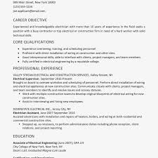 Sample Of Qualifications In Resumes Sample Electrician Resume And Skills List