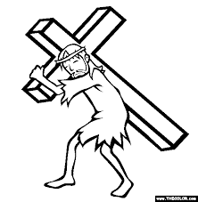Bearing The Cross Coloring Page Free Bearing The