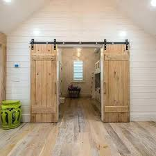 2 barn doors 2 barn doors to shared kids room 2 barn doors on same wall