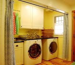 Laundry room curtains ideas for rustic decor