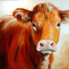 cow paintings on canvas cow is an original oil painting by m baldwin c2006 one