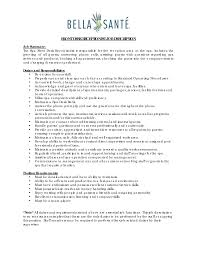 Front Desk Receptionist Job Description Customer Service Job ...